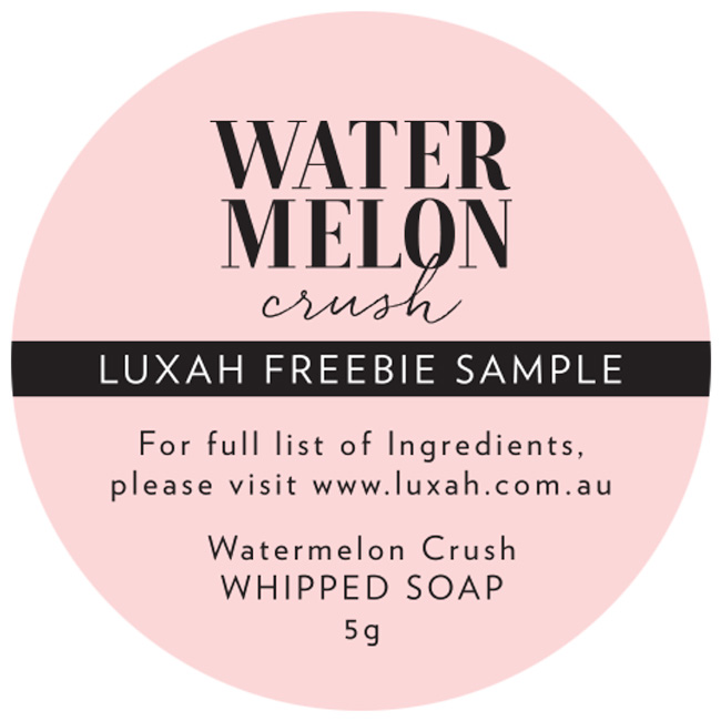LUXAH // Watermelon Crush Whipped Soap