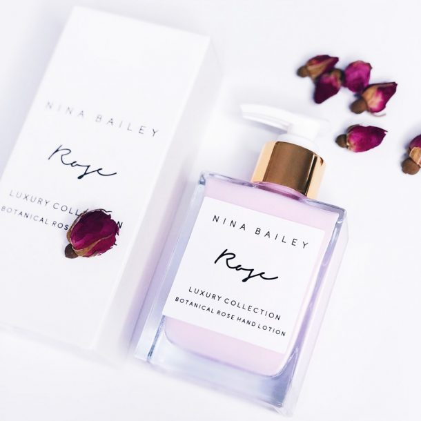 NINA BAILEY Rose Hand Lotion with rose petals