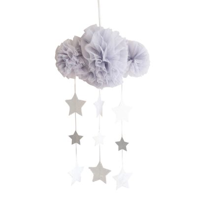 ALIMROSE // Alimrose Mist and Silver Tulle Cloud Mobile