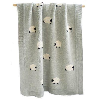 ALIMROSE Alimrose Grey Baa Baa Blanket