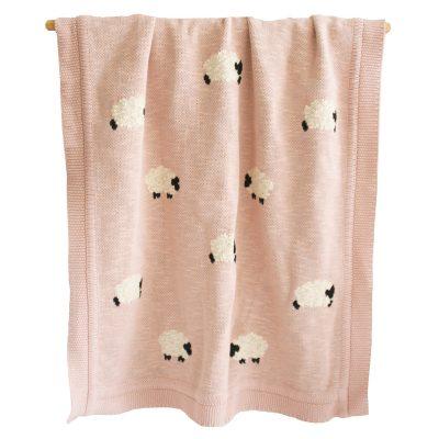ALIMROSE // Alimrose Dusty Pink Baa Baa Blanket