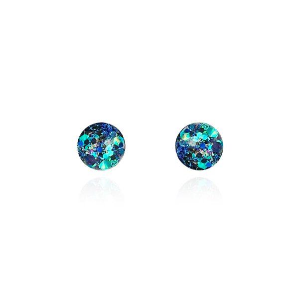 BEHIND THE DOOR Moonlight Glitter Glass Stud Earrings