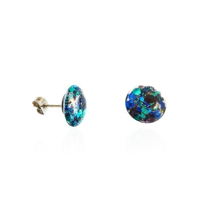 BEHIND THE DOOR // Moonlight Glitter Glass Stud Earrings
