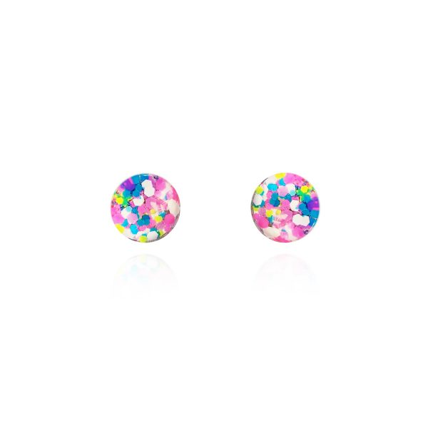 Birthday Barbie Glass Stud Earrings