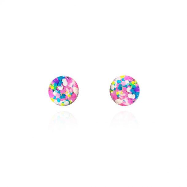 Birthday Barbie Glass Stud Earrings