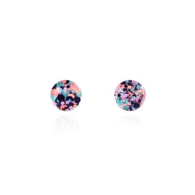 BEHIND THE DOOR // Spider Bait Glitter Glass Stud Earrings