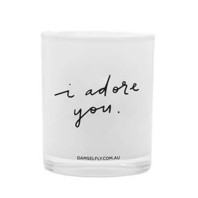 DAMSELFLY I Adore You. Damselfly Candle