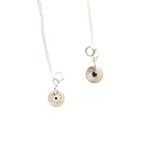 DAMSELFLY Bye Felicia Damselfly Bar Necklace
