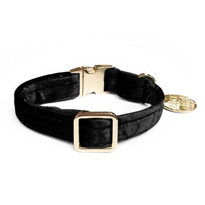 NICEDIGS Noir Plush Velvet Dog Collar