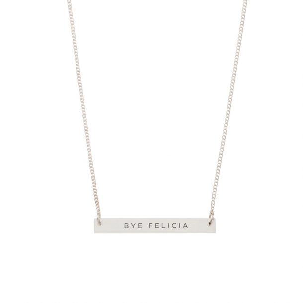 DAMSELFLY Bye Felicia Damselfly Bar Necklace