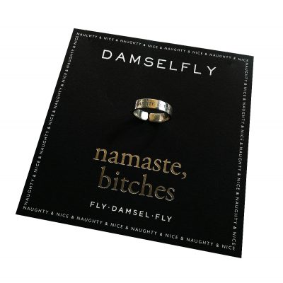 DAMSELFLY // Silver Namaste Bitches Damselfly Ring