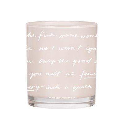 DAMSELFLY Blush Typography Evie Damselfly Candle