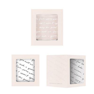 DAMSELFLY // Blush Typography Evie Damselfly Candle