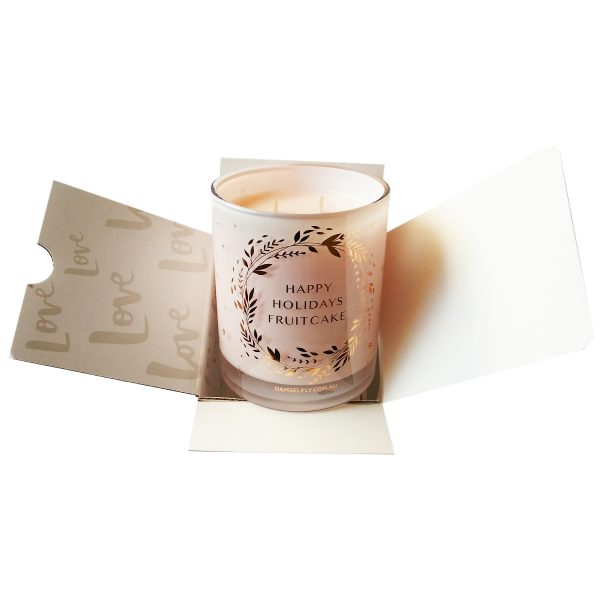 DAMSELFLY // Happy Holidays Fruitcake Christmas Candle