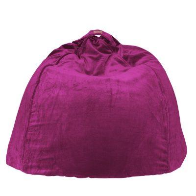 KIPANDCO Dark Purple Velvet Beanbag