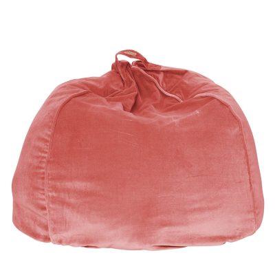 KIPANDCO // Smokey Pink Velvet Beanbag