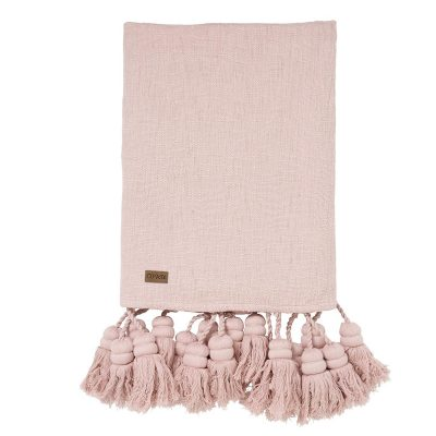 Kip&Co Blush Pink Tassel Throw