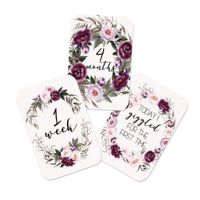 FOREVER3 // Velvet Rose Milestone Cards