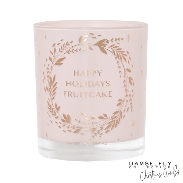 DAMSELFLY Happy Holidays Fruitcake Christmas Candle
