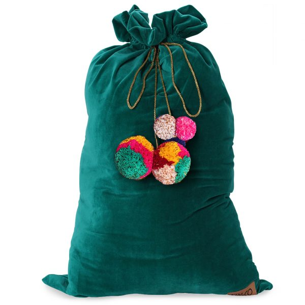 Kip&Co Green Velvet Santa Sack