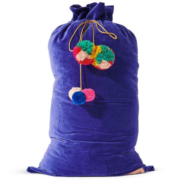 Kip&Co Royal Blue Velvet Santa Sack