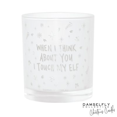 DAMSELFLY // Touch My Elf Christmas Candle