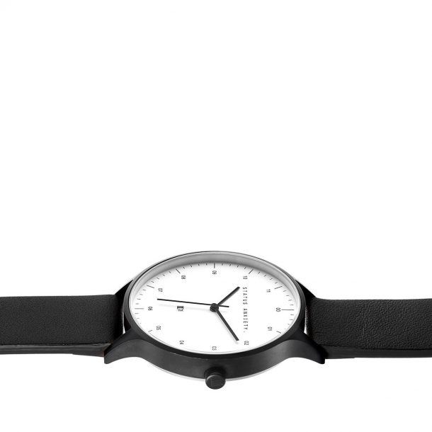 Black + White Inertia Unisex Watch