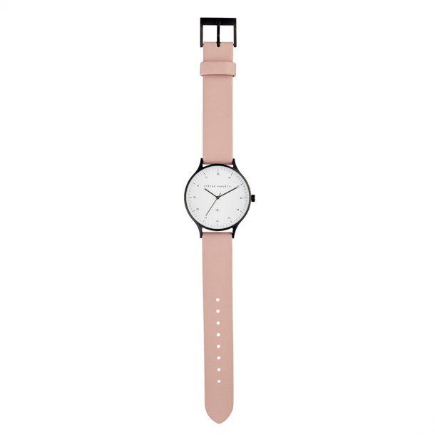 STATUS ANXIETY Blush Pink + Matte Black Inertia Unisex Watch