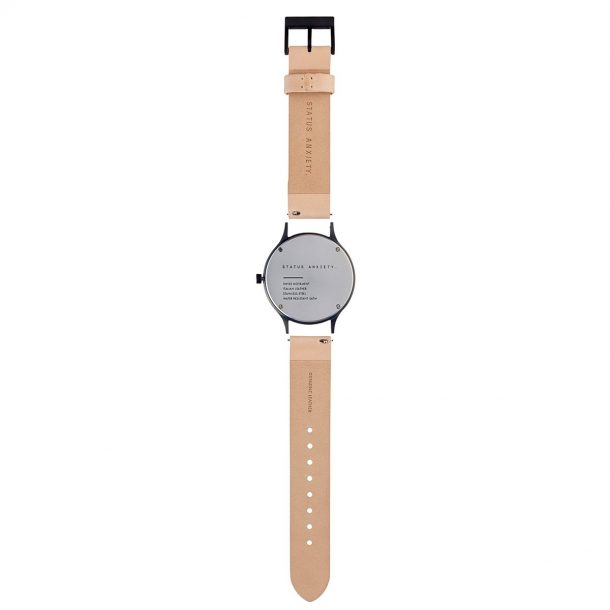 Natural + Matte Black Inertia Unisex Watch