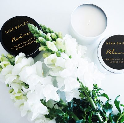 Luxah 'Indulge Her' Pamper Pack - Candle Choice: Left: 'Vanilla Caramel' Right: 'Lychee Peony'