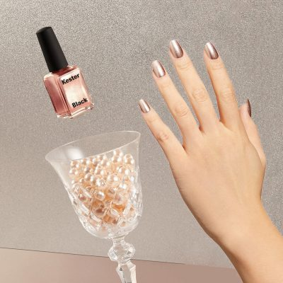 LUXAH // Luxah 'Indulge Her' Pamper Pack - Champagne Kester Black Nail Polish Styled Pic