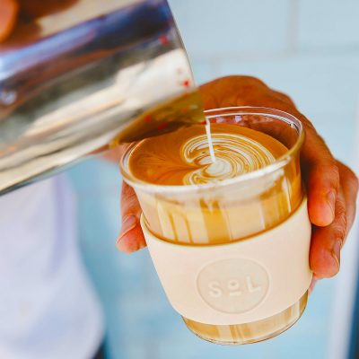 SoL CUPS Coastal Cream SoL Cup with latte