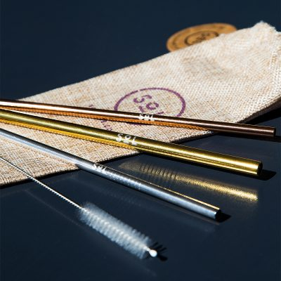 SOL PRODUCTS // Reusable Metallic Straw Kit