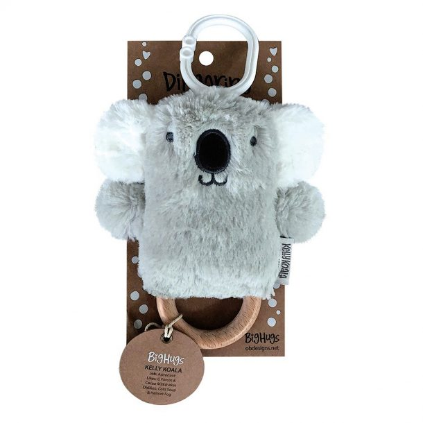 OBDesigns Kelly Koala Natural Wooden Teething Ring
