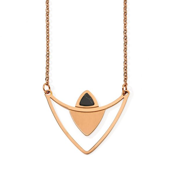 PASTICHE Rose Gold Lustrous Earrings and Necklace Set