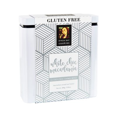 BYRON BAY COOKIE CO. // Gluten Free White Choc Macadamia Luxe Gift Tin