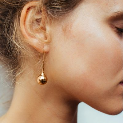 PASTICHE // Rose Gold Ball Drop Earrings