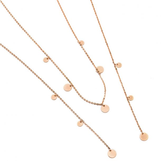 PASTICHE Rose Gold Meet your Soul Necklace