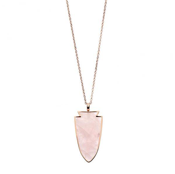 PASTICHE Rose Quartz Twilight Necklace