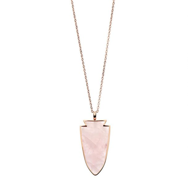 PASTICHE Rose Quartz Twilight Necklace