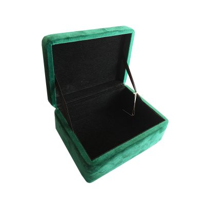 DOWN TO THE WOODS Emerald Green Velvet Trinket Box