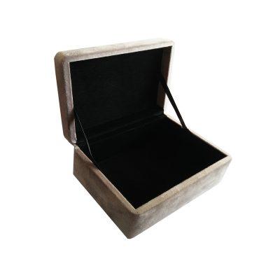DOWN TO THE WOODS // Grey Velvet Trinket Box