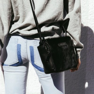 STATUS ANXIETY // Status Anxiety Black Fur Ascendants Bag