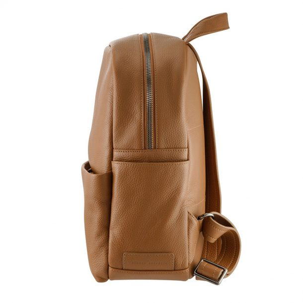 Status Anxiety Tan Backpack side view