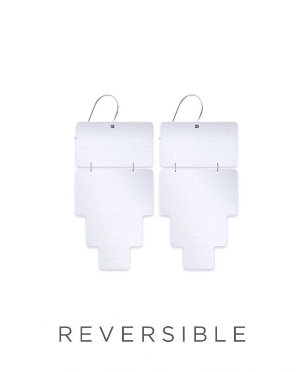 MOE MOE Jewellery Inca Crosshatch Double Drop Earrings