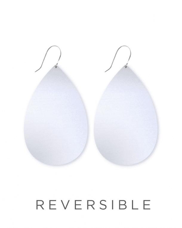 MOE MOE Jewellery Large Speckled Tear Drop Earrings