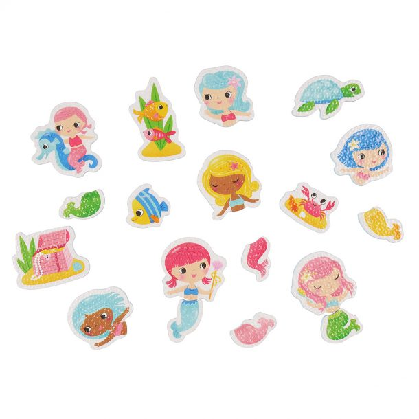 mermaid themed bath tub toys