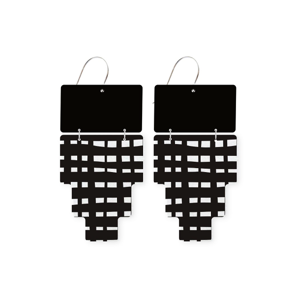 MOE MOE Jewellery Inca Crosshatch Double Drop Earrings