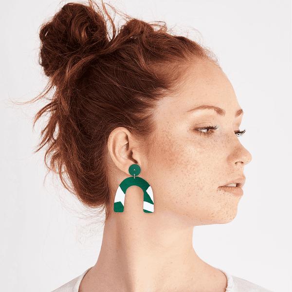 MOE MOE Jewellery Joan Earth Arch Earrings