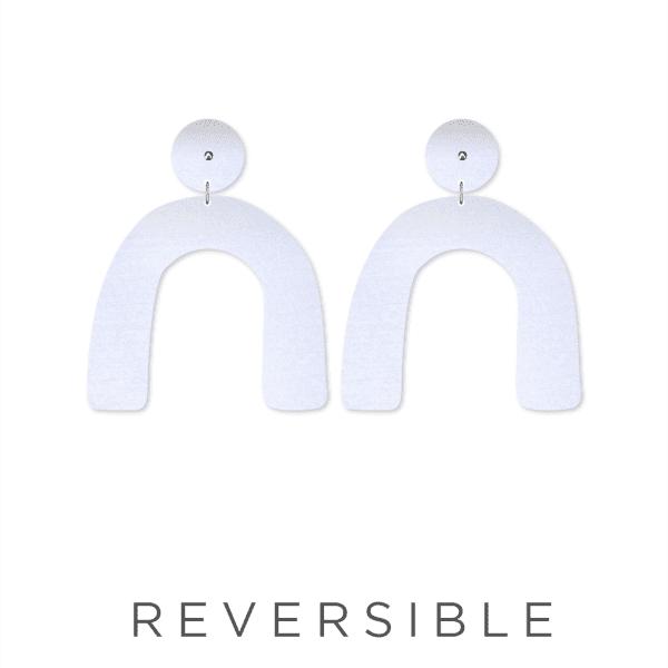 MOE MOE Jewellery Latte Animal Print Arch Earrings